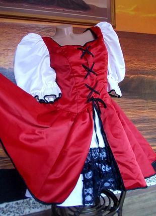 Маскарадное платье красной шапочки 48-50 размера