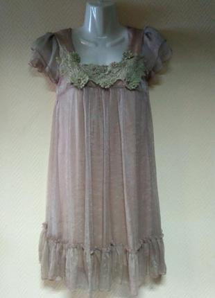 Платье нарядное бежевое