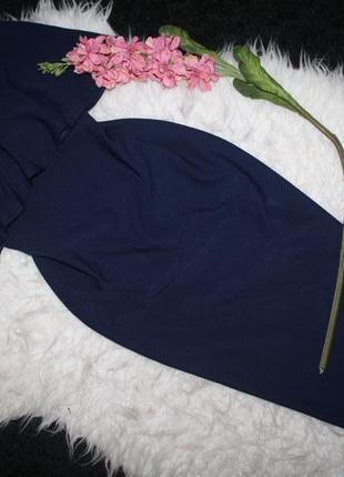 Темно синее платье бюстье2 фото
