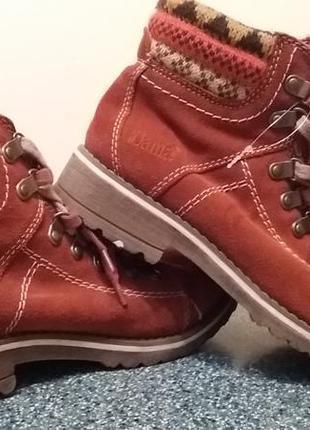 Зима! кожаные фирменные ботинки bama 37р