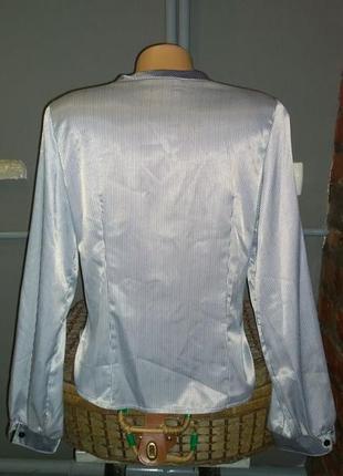 Атласная блузка кофточка в тонкую полоску2
