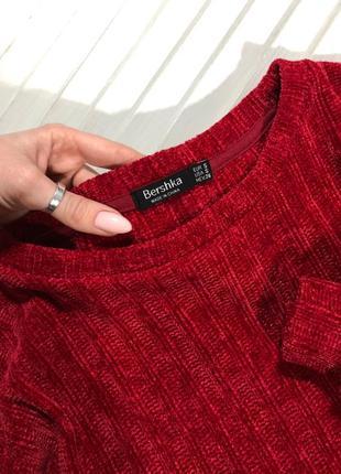 🌿 мягенький, шенилловый свитер от bershka5 фото