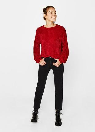 🌿 мягенький, шенилловый свитер от bershka1 фото