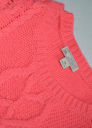 Светрик масивної в'язки рожевий неон шерстяний gap3 фото