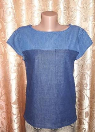 Новая, стильная женская джинсовая футболка the denim2