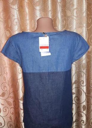 Новая, стильная женская джинсовая футболка the denim5
