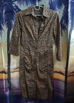 Платье леопардовое 40