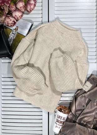 🌿 обалденный свитер с объемными рукавами от misspap3
