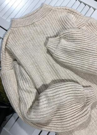 🌿 обалденный свитер с объемными рукавами от misspap4