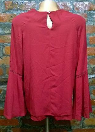 Блуза кофточка с объемными рукавами и шнуровкой2