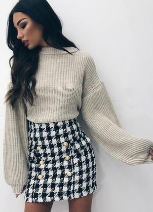 🌿 обалденный свитер с объемными рукавами от misspap2