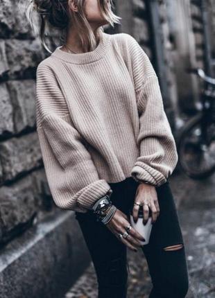 🌿 обалденный свитер с объемными рукавами от misspap1