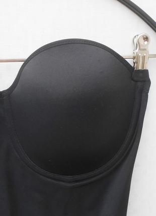 Черное сексуальное эротическое боди бандо анжелика 36d 80d2 фото