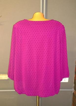 Блузка кофточка большого размера декорированная вышивкой3