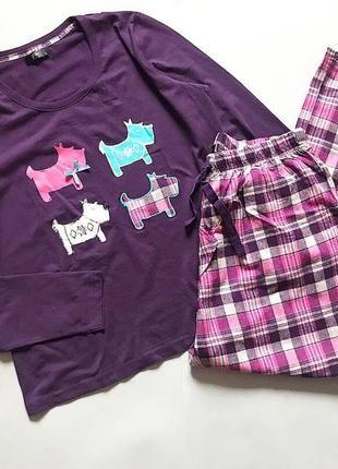 Котоновая пижама f&f в стиле radley  p 16-18