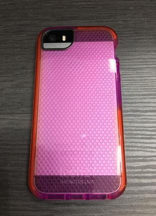 Фирменный противоударный чехол tech21 для iphone 5 5s se