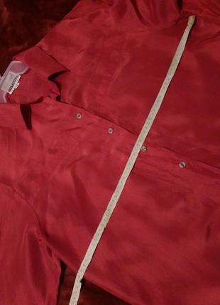 Натуральный шелк,красная блуза,подарок за покупку от 200 грн2