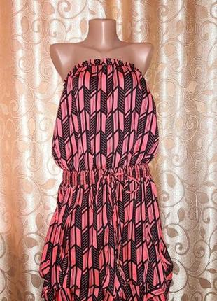 Стильное легкое, короткое женское платье, сарафан river island3