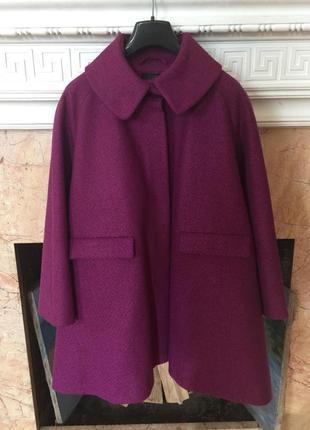 Cos стильное пальто шерсть альпака р.44(50)