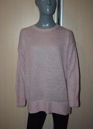 Пудровый свитер оверсайз4 фото