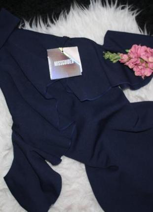 Шикарное платье миди с воланами3 фото