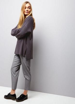 Оверсайз свитер с разрезами new look