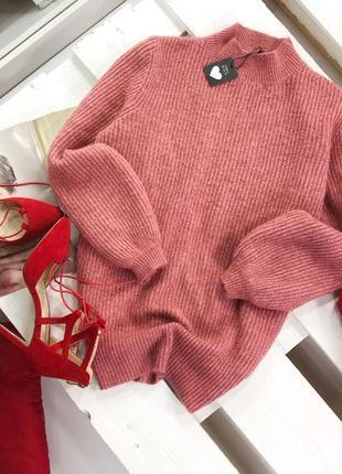 Мягкий оверсайз свитер с широкими рукавами f&f1