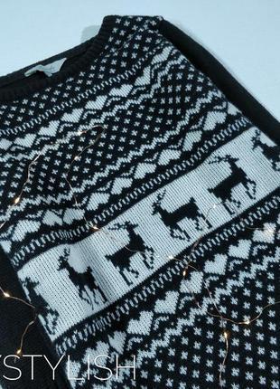 Теплая  туника свитер с оленями2