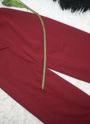 Бордовый комбинезон кюлотами5 фото