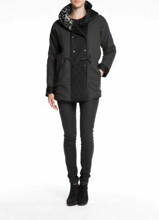 Зимнее полу-шерстяное пальто-парка от премиум бренда maison scotch3
