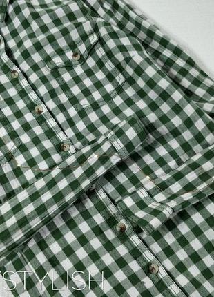 Рубашка туника в клетку2