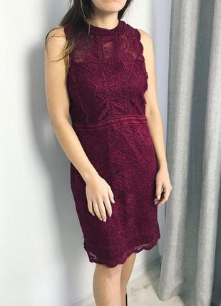 Кружевное платье topshop1