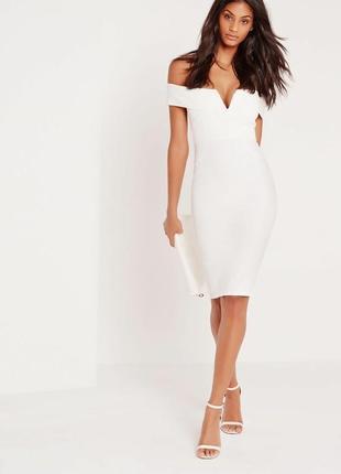 Шикарное миди платье на плечи