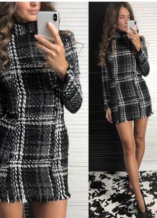Продам новое твидовое платье!