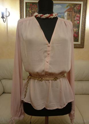 Шикарная блуза, вискоза 36 размер.