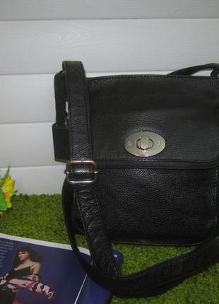 Актуальная кожаная сумка английского бренда debenhams  нат. кожа1