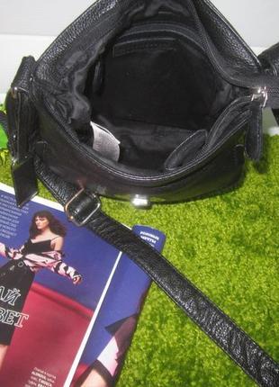 Актуальная кожаная сумка английского бренда debenhams  нат. кожа4