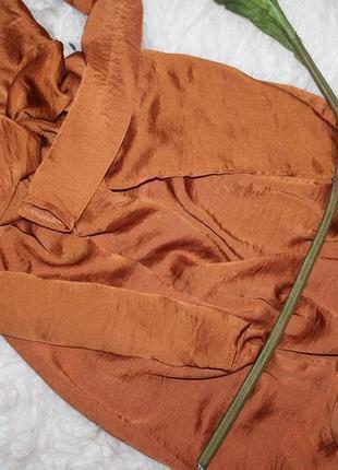 Особенное сатиновое ассиметричное платье4 фото