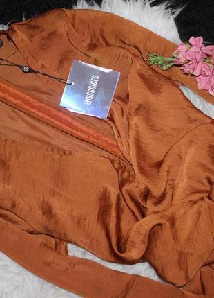 Особенное сатиновое ассиметричное платье3 фото