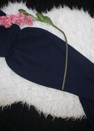 Идеальное синее платье с переплетом на спине и клином2