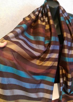 Натуральный шелк,тонкая чесуча,палантин,180*522 фото