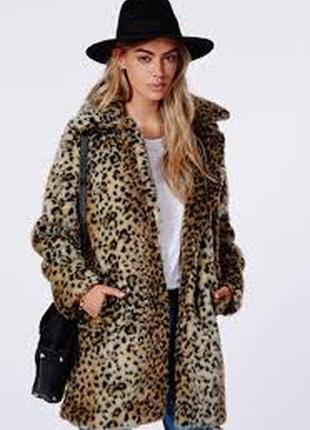 Шуба amisu леопард1