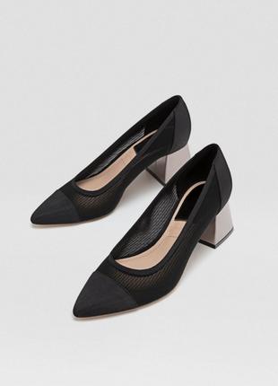Фирменные красивые туфли на широком каблуке р. 36, 37, 38, 39, 40