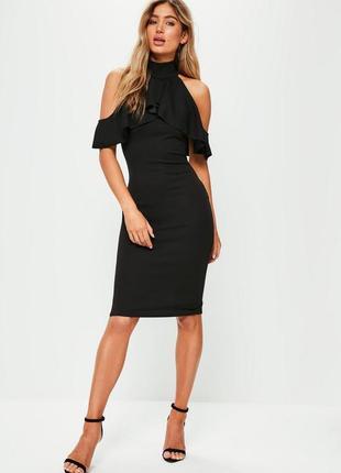 Идеальное миди платье с воланами