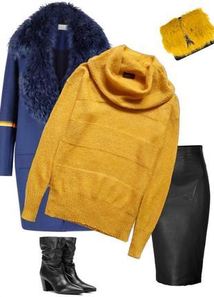 Стильный  блестящий свитер  от yessica .