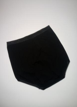 Черные хлопковые высокие трусики sloggi uk 10 / 38 / s3