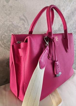 Vip!!! шикарная кожаная сумка mcm