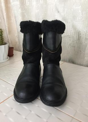 Итальянские натуральные кожаные сапоги весенние осенние зимние ботинки