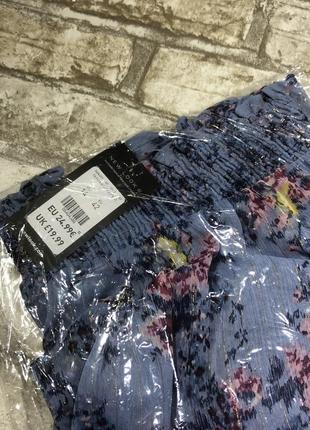 Нежная блуза с открытыми плечами в цветах, нарядная с люрексом, свободная5