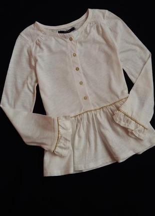 Туника/блуза с баской kiabi (франция) на 3-4 годика (размер 98-107)
